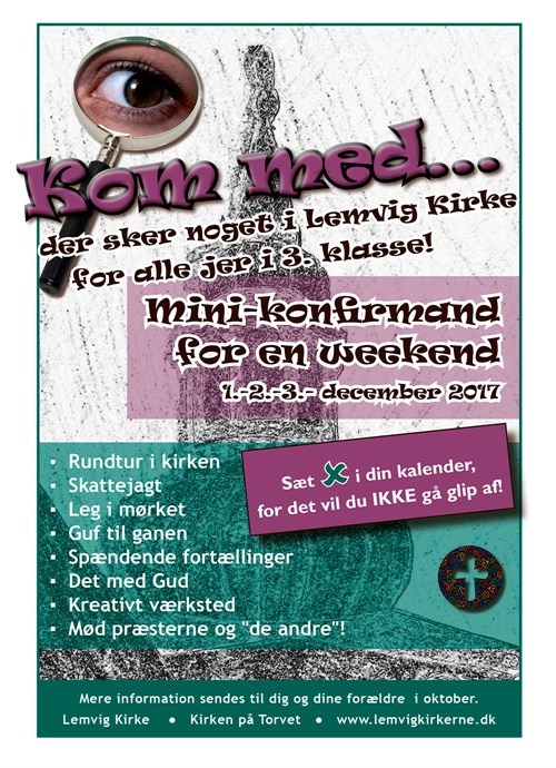 Minikonfirmander 2017 Flyer