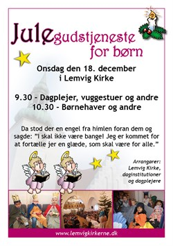 Julegudstjeneste For Boern 2019 Plakat Plus Flyer